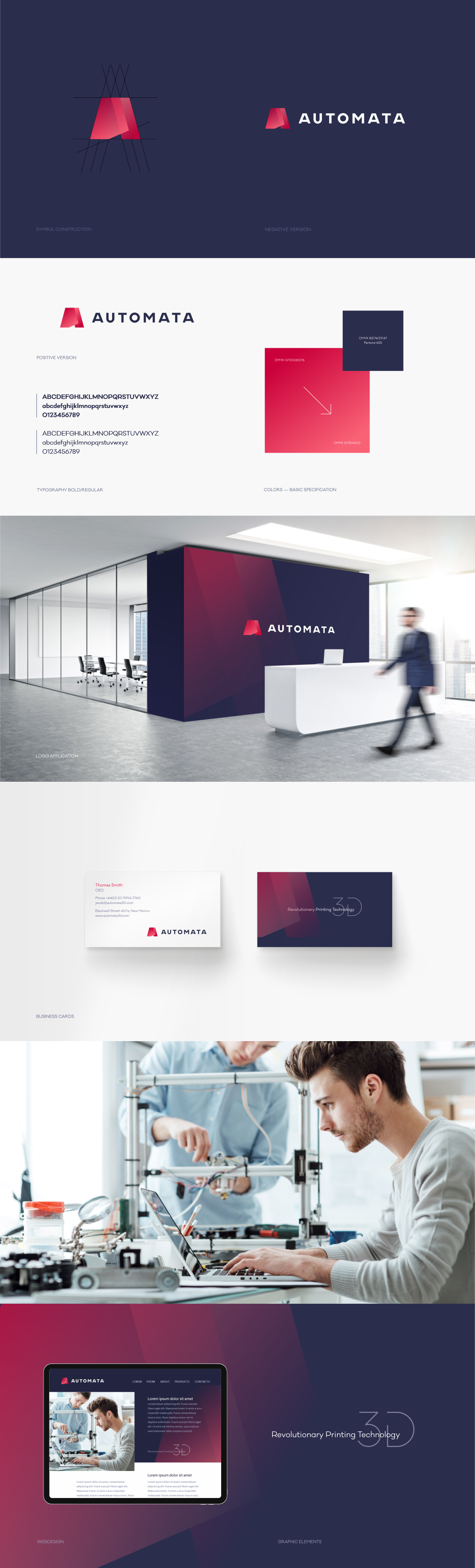 Automata 3D printers logo design Martin Babicek